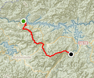 Fontana To Wesser - AT Map