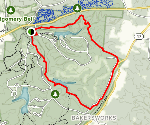 Montgomery Bell State Park North Loop Trail Map