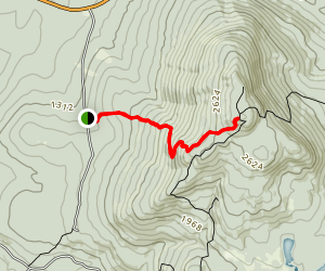 Cross Rivendell Trail to the North Cube Spur Map