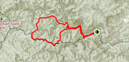 Shinny Creek Loop Trail Map