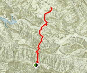Little Caliente Hot Spring Trail from Camino Cielo Map