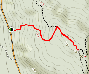 Ledge Trail to Saint Sauveur Trail Map