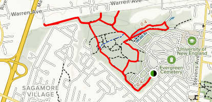 Evergreen Cemetery Trail Map