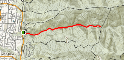 Holbrook Canyon Trail Map