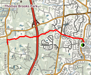 White Oak Creek Greenway Trail Map