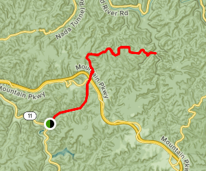 Red River Gorge End-to-End Trail Map