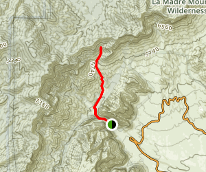 La Madre Cabin Trail Map