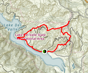 Del Valle Regional Park Campground Trail Map