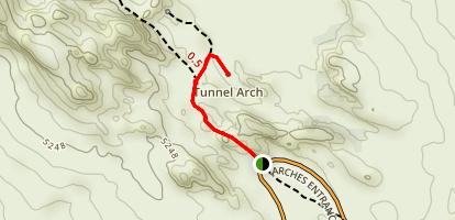 Tunnel Arch Trail Map
