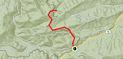 Hickory Ridge Trail via Appalachian Trail Map