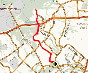 Salado Greenway Trail from Hardberger Park Map