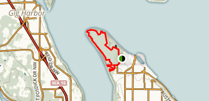 Point Defiance Park Outer Loop Map