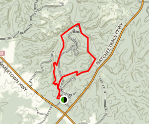 Meriwether Lewis Loop Trail Map