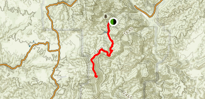 Chalone Peak Trail Map