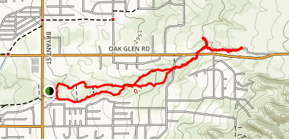Oak Glen Creek Basin Trail Map