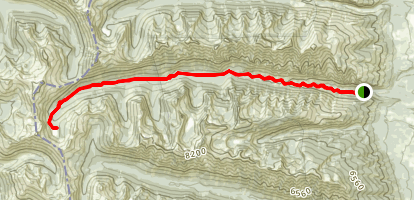 Blodgett Canyon Map