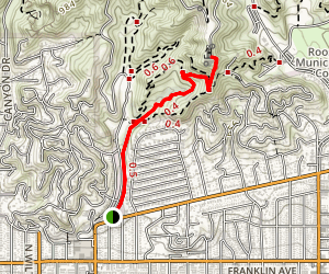 Ferndell Trail to the Griffith Observatory Map