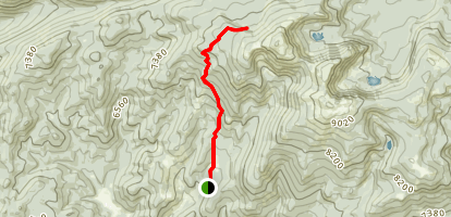 Elkhorn and Crow Peak Trail Map