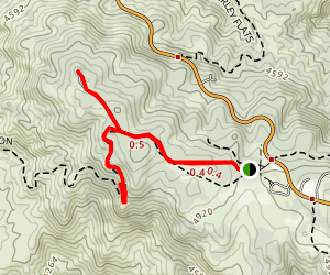 Poppet Flat Divide Truck Trail Map