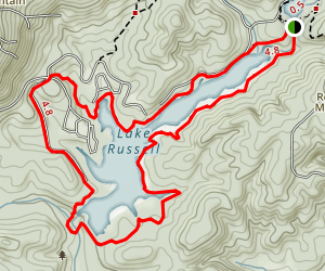 Lake Russell Loop Trail Map