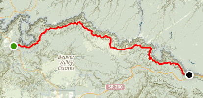 Highline National Recreation Trail Map