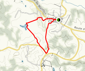 The Saint-Cricq-Chalosse Loop Trail Map