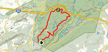 Allamuchy Mountain State Park Trail-Deer Park Map