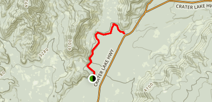 Upper Rogue River Trail: Natural Bridge to Big Bend Map