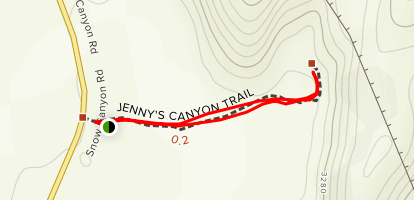 Jenny's Canyon Trail Map