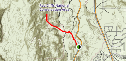 Red Sands (Three Ponds) Trail Map