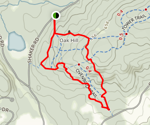 Oak Hill Lower Trails Map