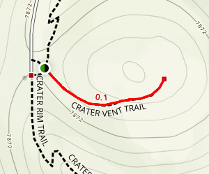Boca Trail (Crater Vent Trail) Map