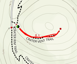 Crater Vent Trail Map