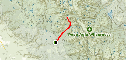 Cirque of the Towers Trail Map