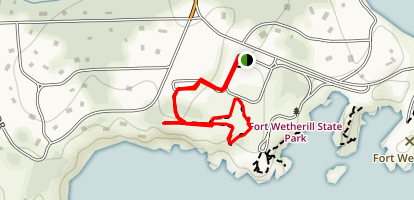 Fort Wetherill State Park Trail Map