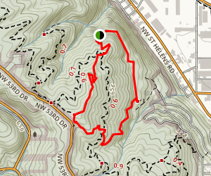 Dogwood Wild Cherry Loop Trail Map