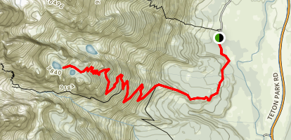 Surprise and Amphitheater Lakes Trail Map