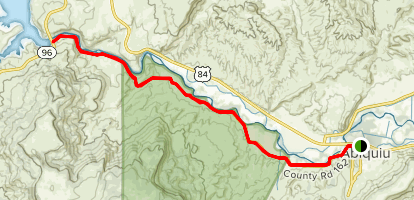 O'Keeffe Country Challenge Trail Map