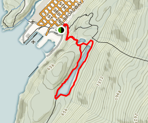 Lower Dewey Lake Trail Map