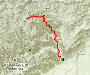 North Slaughter Canyon Trail Map