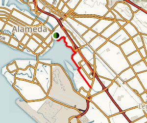 San Leandro Bay Trail Map