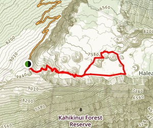 Halalai'i and Pu'unaue Trail Map