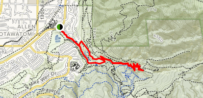 Ghost Falls via Little Corner Canyon Trail Map