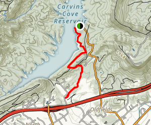 Carvins Cove Reservoir Trail Map