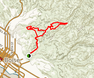 Crestline Sidewinder Loop Trail Map