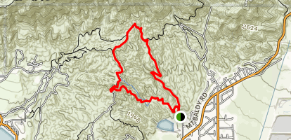 Claremont Hills Wilderness Trail Map