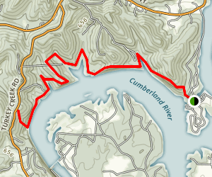 Bearwaller Gap Hiking Trail Map