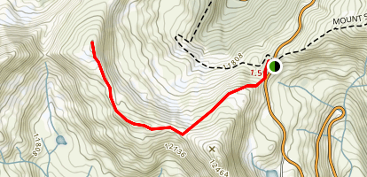 West Ridge Trail from Loveland Pass Map