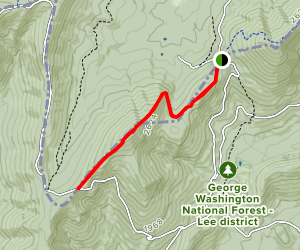 Tibbet Knob Trail Map