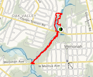 Woods of Wenonah Trail Map